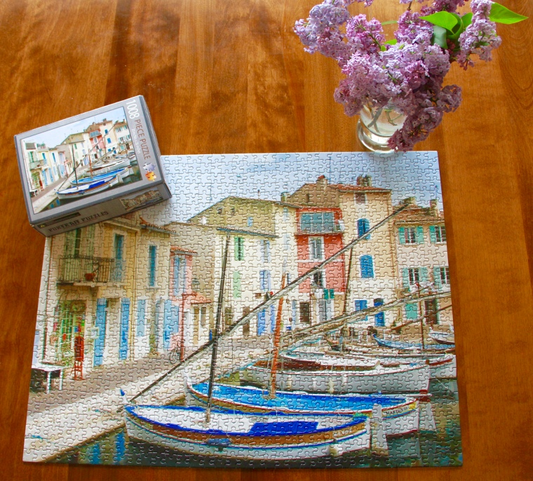 France puzzle, jigsaw puzzle, Martigues, France, colorful puzzle, lilacs
