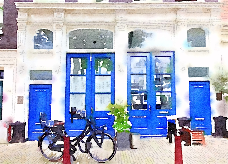 Julia Willard, Julie Willard, Falling Off Bicycles, Holland photography, waterlogue, tinrocket, Amsterdam, solo bike parking, France photography